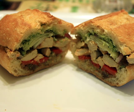 Chicken Pesto Sub